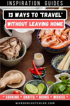From cooking a new dish, to watching a foreign film and learning a new language, you can enjoy all of these travel experiences without leaving your home. Ways To Travel, Best Places To Travel, Travel Tips, Travel Destinations, Travel Photographie, Best Travel Gifts, Leaving Home, Worldwide Travel, Group Travel