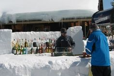 The people who find a bar on top the mountain.