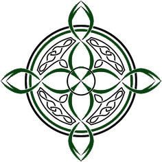 Celtic compass rose with color