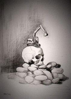"""Saatchi Online Artist Matthew Davey; Drawing, """""""" We Mother Earth """""""" #art"""