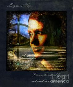 I HAVE CALLED ON THE GODDESS, Morgaine le Fay, Lady of the Lake, High Priestress of the holy Island of Avalon  Photography based digital art by Alice van der Sluis  www.alice-art.nl www.facebook.com/alicevandersluisart www.alicevandersluisart.blogspot.com  Copyright Alice van der Sluis