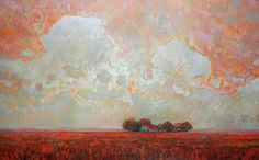 Steve Coffey - Old Farm And Red Fields 30 x oil/canvas Sarah James, Emily Carr, Alex Colville, Group Of Seven, June 4th, Canadian Art, Old Farm, Fields, Spirit