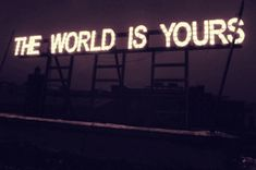 the world is (y)ours. (gif)