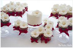 Coup Cake y pastel central, elegante y vistoso