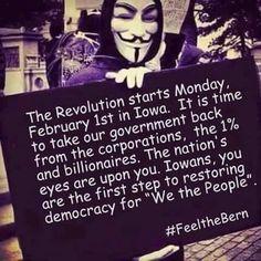 The revolution starts Monday! #FeelTheBern #NotMeUs
