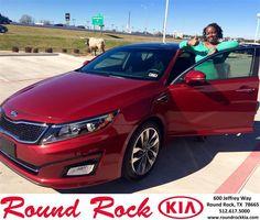 https://flic.kr/p/CA4j3u | Happy Anniversary to Lashondara on your #Kia #Optima from Ruth Largaespada at Round Rock Kia! | deliverymaxx.com/DealerReviews.aspx?DealerCode=K449