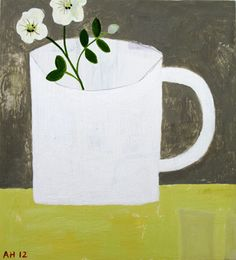 'White Cup' by Andrea Humphries Kawaii Illustration, Cup Art, White Cups, Still Life Art, Pretty Pictures, Love Art, Art Forms, The Ordinary, Figurative