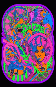 High quality reprinted art print poster titled Acid Land from 1967.