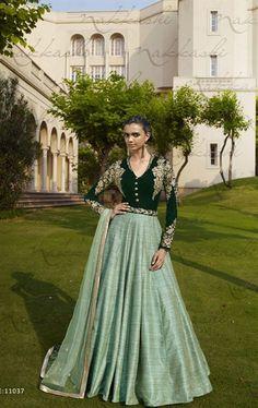 Marvelous Bottle Green Wedding Designer Salwar Kameez