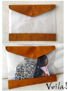 f-f-f-fashion: [DIY] Clear Clutch