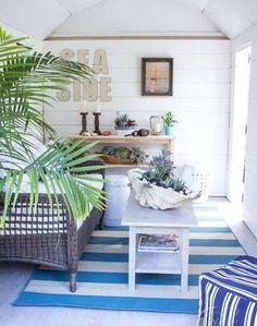 Nautical Garden Shed Retreat: http://www.completely-coastal.com/2015/09/coastal-nautical-garden-she-shed-idea.html