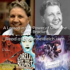 screenwriter stu zicherman on the disappointing elektra women of  a lesson in the power of one line leigh brackett essay on