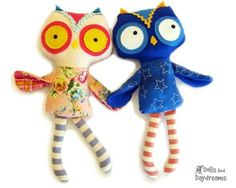 Owl Sewing Pattern - Dolls And Daydreams