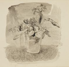 Christopher Wood, Flowers, 1930 Wash, pen and ink on paper