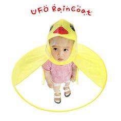 Age Kids Raincoat Cartoon Yellow Duck UFO Raincoat Packable Children's Hooded Poncho Cloak Size S-L Baby Raincoat, Raincoat Outfit, Yellow Raincoat, Hooded Raincoat, Stylish Raincoats, Raincoats For Women, Ufo, Funny Duck, Cute Coats