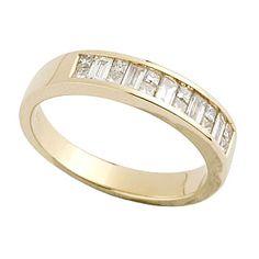 18ct Gold 050 Carat Princess Cut And Baguette Diamond Ring Fraser Hart GBP1650