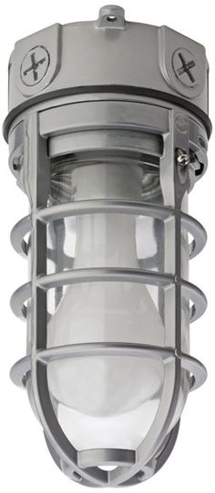 Bancroft Gray Vapor Tight Outdoor Ceiling Light -