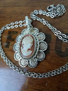 Items similar to Solid Silver Victorian Necklace Cameo Necklace 800 Silver Mix and Match Handmade Silver Pedant on Etsy Handmade Art, Handmade Silver, Handmade Gifts, Cameo Necklace, Victorian Fashion, Etsy Vintage, Real Leather, Necklace Lengths, Love Fashion