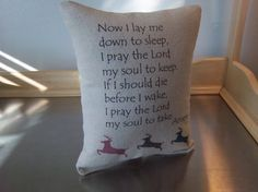 Nursery pillow handmade baby shower gift by SweetMeadowDesigns