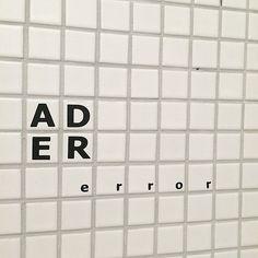⤵ A D E R ERROR . #toilet #interior . ✔site. en.adererror.com . #adererror#ader#fashion#fashionbrand#2015ss#chapter2#contemporary#design#graphic#designer#team#studios#basic#deeply#simple#colorful#dday#playthepast#lookbook#80s#90s#childlik