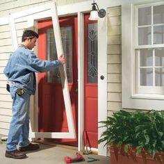 how-to for storm door replacement