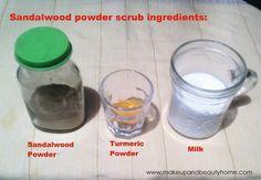 skin lightening diy recipes ~ sandalwood powder scrub ingredients