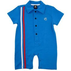 KNUCKLEHEADS RETRO STRIPES POLO BLUE ROMPER