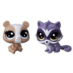 Littlest Pet Shop Mari Pandalyn & Scoot Racoonerson - Bast Figures Little Pet Shop, Little Pets, Lps Pets, Lps Littlest Pet Shop, White Puppies, Kid Experiments, Bffs, Minis, Action Figures