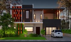 Modern Architecture House, Modern House Design, Exterior Design, My House, Beautiful Homes, Interior Decorating, Construction, House Styles, Taehyung