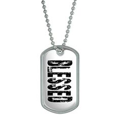 Blessed  Military Dog Tag Keychain ** Read more  at the image link. (This is an Amazon affiliate link and I receive a commission for the sales and I receive a commission for the sales)