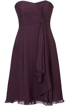 Aubergine....i like this dress. but in charcoal