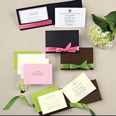 Stylish Wrap Wedding Invitation - Pocket Wedding Invitations