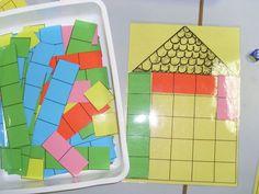 LE JEU DES MAISONS:Pour ce jeu 2 versions avec - la classe d'Angélique Montessori Math, Preschool Math, Math Classroom, Teaching Math, Math Games, Math Activities, Act Math, Math Work, Special Education