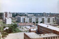 Ibolya utca az Ifjúság utca felé nézve, jobbra az általános iskola (1966) Utca, Budapest, Retro, Rustic