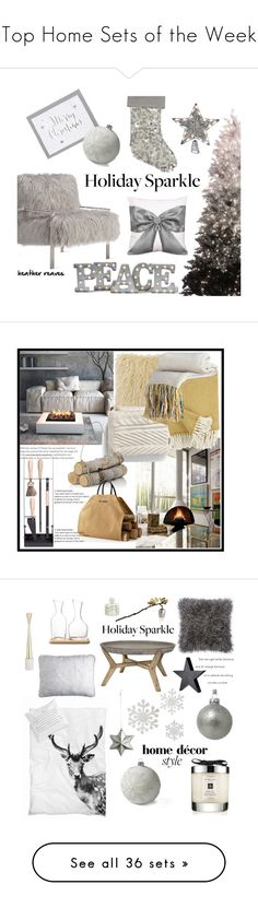 """""""Top Home Sets of the Week"""" by polyvore ❤ liked on Polyvore featuring interior, interiors, interior design, home, home decor, interior decorating, Axel, Grandin Road, Lands' End and HolidayParty"""