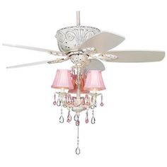 Pretty-in-Pink Pull-Chain Ceiling Fan Light Kit | Home Improvement ...