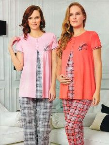 PC Ekose Kombin Hamile Pijama Takım Maternity Pajamas, Maternity Nursing Dress, Mother Daughter Dresses Matching, Pajama Suit, Lounge Wear, Blog, Tunic Tops, Plaid, How To Wear