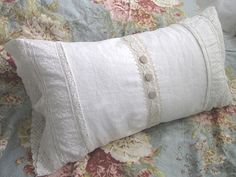 made with 80+ year old lace and linen with handmade french cloth buttons