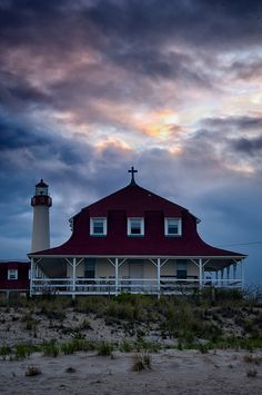 Cape May Point Lighthouse and St Mary's by the Sea Retreat - by Kelly Heaton, via 500px