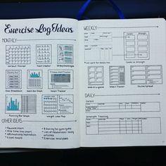 Bullet journal exercise log