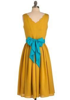 Effortless Allure Dress in Gold my-style-pinboard1