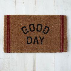 Coir Doormat - Good Day | West Elm