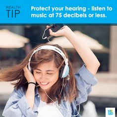 #TipTuesday: Crank down the volume. MP3 players can create sound up to 120 decibels -- equivalent to the sound of an ambulance siren and loud enough to cause hearing loss over time.   Try following the 60/60 rule: Keep volume coming through your headphones to no more than 60% of the max, for no more than 60 minutes a day.
