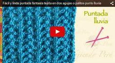 MIRA EL VIDEO ABAJO↓↓↓ Hoy aprendemos un nuevo punto llamado Lluvia, un punto que nos enseña la maestra Esperanza Rosas, de la w... Knitting Help, Knitting Stiches, Knitting Videos, Knitting For Beginners, Knitting Projects, Afghan Crochet Patterns, Knitting Patterns, Crochet Baby, Knit Crochet