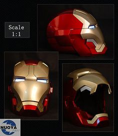 Roan iron man mk42 costume mask #helmet magnetic led #lighting 1/1 #wearable fac, View more on the LINK: http://www.zeppy.io/product/gb/2/141945010844/