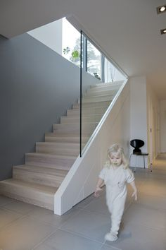 elegant straight design wood and white stairs with glass railing … – carpet stairs Basement Staircase, White Staircase, House Staircase, Staircase Railings, Wooden Staircases, Staircase Design, Walkout Basement, Glass Stairs, Glass Railing