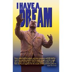 Bulletin-I Have A Dream (Pkg-100)  #MLKJR