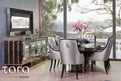 Astazi iti prezentam diningul Roya! Fie ca ti-ar placea un set de mobilier pentru un pranz in familie, o masa cu prietenii sau o cina eleganta, selecteaza unul dintre diningurile #ToroDesign personalizeaza-l cu nuantele favorite si comanda-l din showroom-ul nostru!