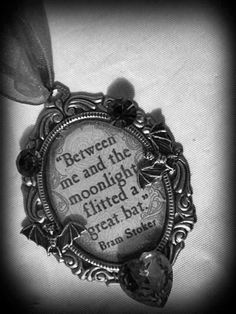 Bats are cool, 'nough said =) Dracula Bram Stoker Quote Pendant by MoonspellCrafts on Etsy Comte Dracula, Bram Stoker's Dracula, Cyberpunk, Vampire Love, Creatures Of The Night, Gothic Jewelry, Favorite Holiday, Dieselpunk, Pendant