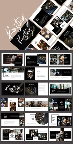 Roasting - Food & Drink Powerpoint Template by putra_khan on Envato Elements Business Presentation Templates, Presentation Design Template, Presentation Layout, Presentation Slides, Simple Powerpoint Templates, Creative Powerpoint Presentations, Professional Powerpoint, Powerpoint Presentation Themes, Powerpoint Designs